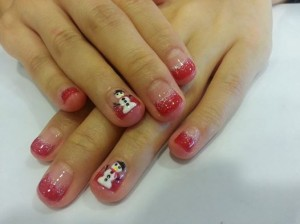 Far East Plaza manicure Christmas